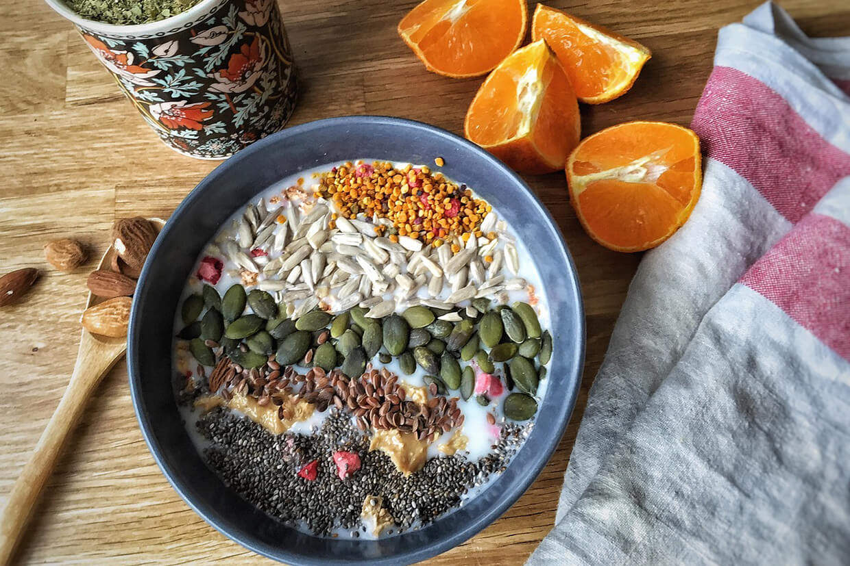 chia samen porridge das perfekte rezept porridge rezepte. Black Bedroom Furniture Sets. Home Design Ideas